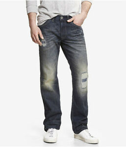 Express Kingston Men's Low Rise Classic Fit Straight Leg Jeans $98 NEW 32x32