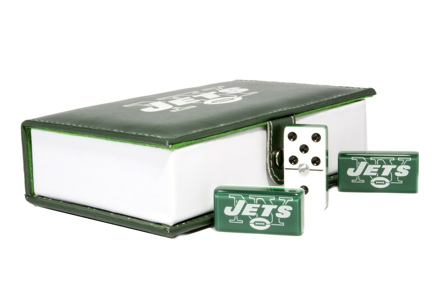 New York Jets Domino 100% Acrylic, Faux Leather Case