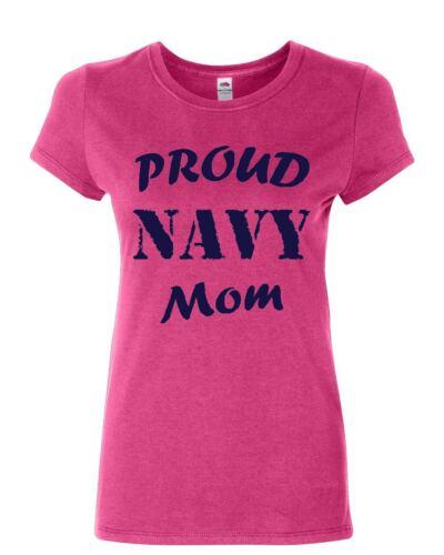 Proud Navy Mom Women/'s T-Shirt Patriotic Veteran Navy Seal Mother/'s Day Shirt
