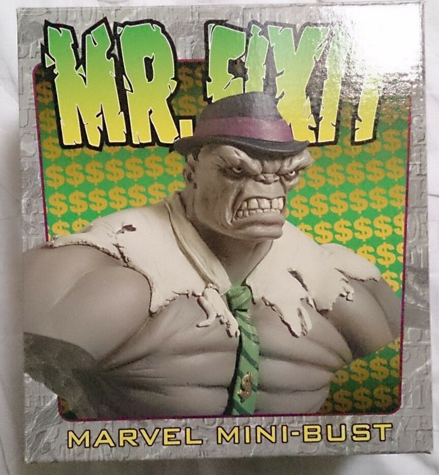 Marvel Comics Bowen The Incredible Hulk Mr Fixit mini bust statue with box