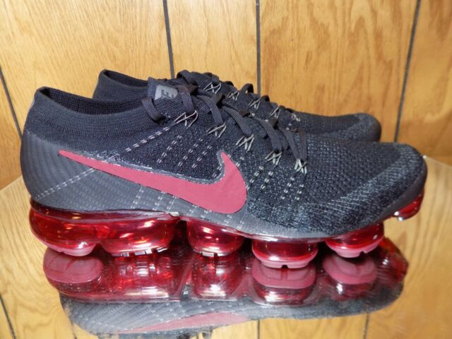 b5d75073bcb get nike air vapormax flyknit size 11.5 black dark team red 849558 013 new  14c05 06423