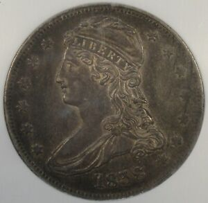 1838 Reeded Edge Capped Bust Half Dollar 50c NGC Certified AU53
