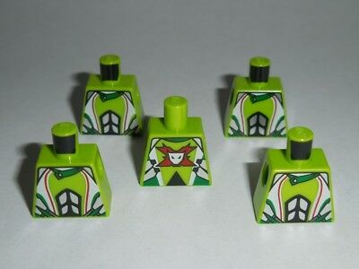 Lego New Torso Shirt Minifig Gold Pendant Bead Necklace Pattern Lime Arms Parts