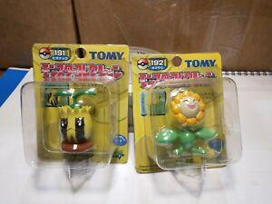 Rare Yellow Box Series Unopened TOMY Sunkern Sunflora Pokemon Figure #191 #192