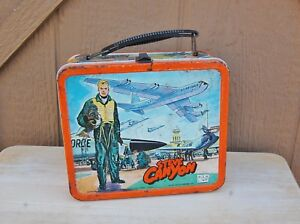 steve canyon lunch box vintage aladdin 1959 air force military