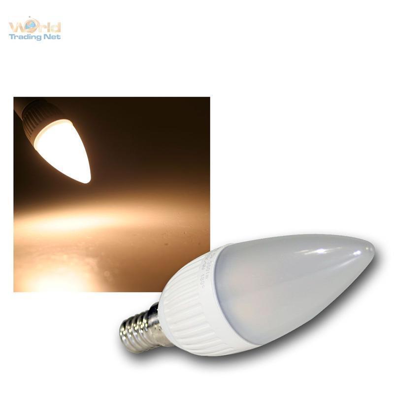 5 LED-Kerzenlampen E14 DIMMBAR warmweiß 300lm Leuchtmittel Birne Glühbirne E-14