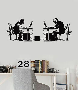 Nice Image Is Loading Vinyl Wall Decal Gamer Battle Video Game Gaming