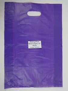 100-Qty-12-034-x-3-034-x-18-034-Purple-High-Density-Plastic-Merchandise-Bag-w-Handle