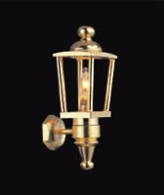 1:12 Scale Working Wall Brass Coach Light Dolls House Miniature Lamp 2022