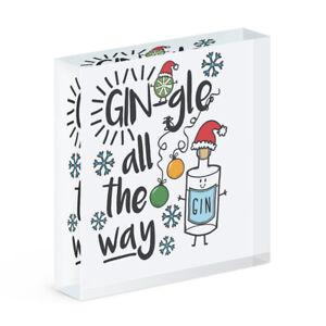 Gin-GLE tout le Chemin Aimant de Réfrigérateur Drôle Gin Jingle Noël Secret Santa