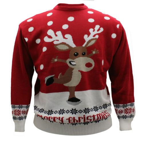 Da Uomo Big Size Natale Novità Babbo Natale Renna Crew maglione a girocollo 2xl 3xl 4xl 5xl