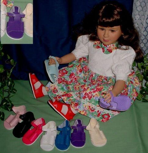 """Sale! Monique 98mm WHITE Diamond Design Sandals fit 23/"""" My Twinn Poseable"""