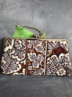 Vera Bradley slate Blooms Clutch Wallet - With Tags