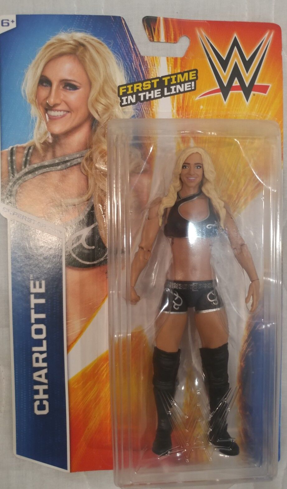 WWE CHARLOTTE Mattel Series 55 Superstar Divas First Time in the Line Figure
