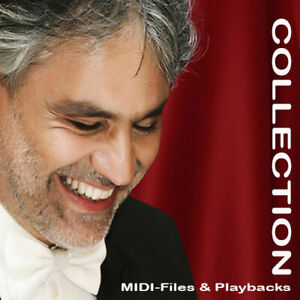 Andrea Bocelli Collection - Midifiles inkl. Playbacks - Germany, Deutschland - Andrea Bocelli Collection - Midifiles inkl. Playbacks - Germany, Deutschland