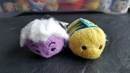 Disney Little Mermaid Ursula Flounder Tsum Tsum Collection Peluche Soft Toy