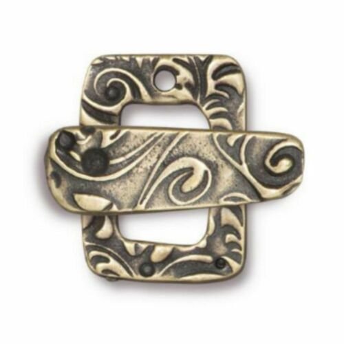 TierraCast Jardin Toggle Clasp Set Brass Ox Plated Pewter T1576