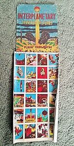 Vintage SPACE Transfer Tattoos Display with 12 SHEETS of 24 TRANSFERS 1950s #5