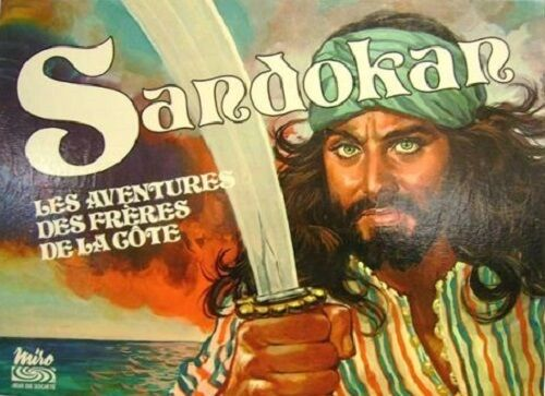 The sandokan one board game - the adventures of the bredhers of the Côte-miro - 1977