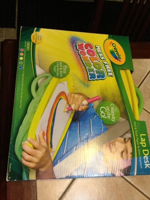 Crayola Color Wonder Mess Free Coloring Activity Lap Desk NEW Great For  Travel