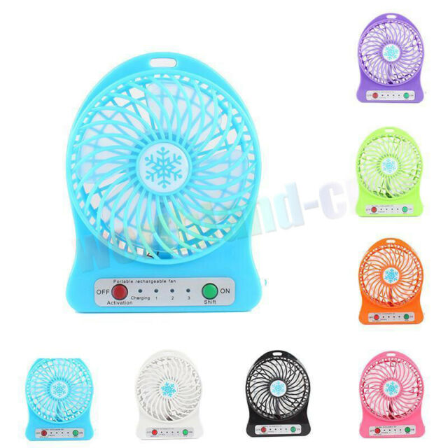 Led Light Usb Mini Fan Air Cooler