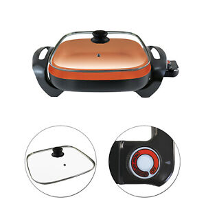 Simple Amp Co 3pc Copper Infused Electric Skillet Set Non