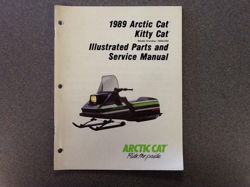 ARCTIC CAT OEM SERVICE MANUAL 1989 KITTY CAT 2254-486