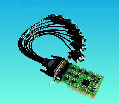 PCI to COM Expansion Card 8 Ports DB-9 Pin Serial RS232 Chipset For SYSBASE 1058