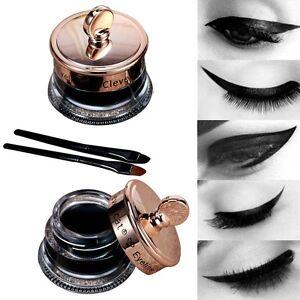 Impermeable-Gel-Delineador-De-Ojo-cepillo-negro-Lapiz-ojos-tatuaje-Maquillaje