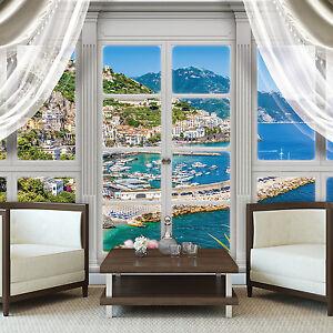 VLIES-Fototapeten-Fototapete-Tapete-Fenster-Natur-Wasser-Insel-Ozean-3FX10628VE