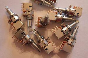 Push//Pull Poti Potentiometer 250 kOhm 8 mm Ø Gewinde
