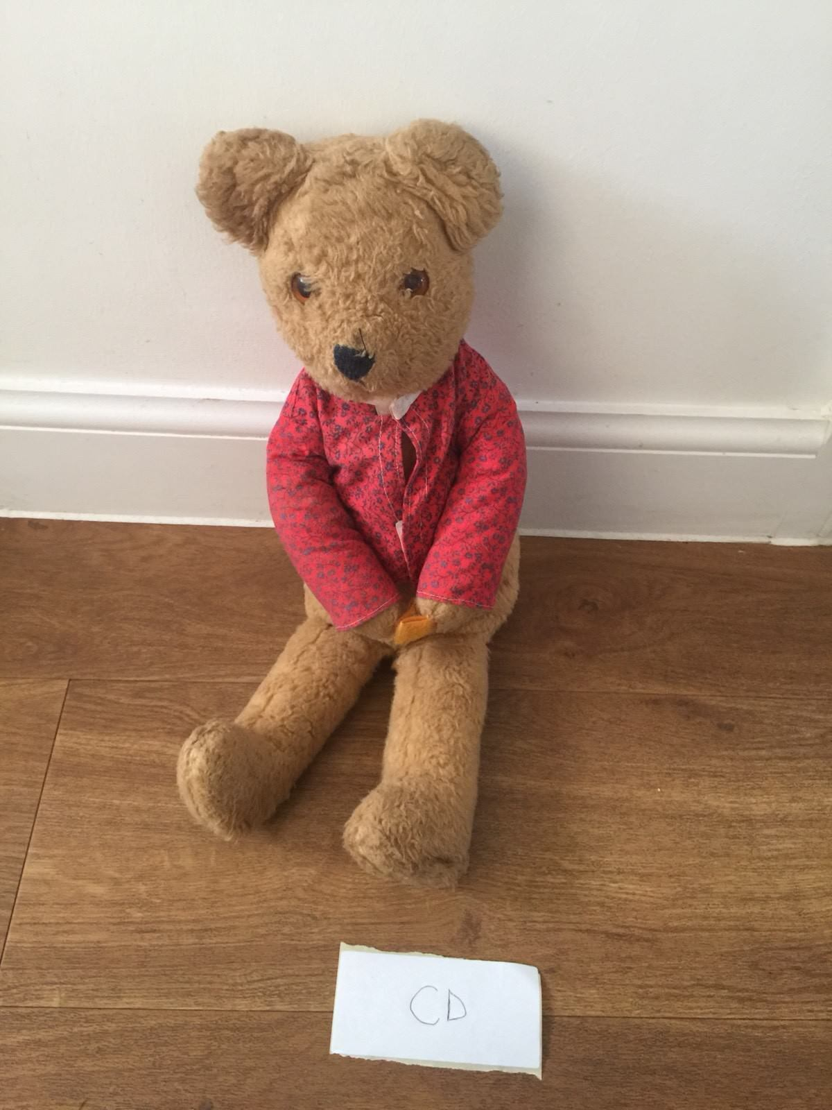 Vintage 1970s Alresford Crafts Teddy Soft Plush Teddy Crafts Bear Clothed Toy 70s England b74ab0