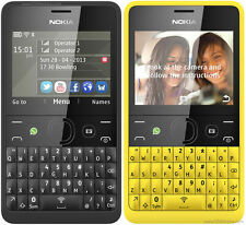BRAND NEW NOKIA ASHA 210 BLACK QWERTY KEY BOARD UNLOCK WHAT'S UP FACEBOOK CAMERA