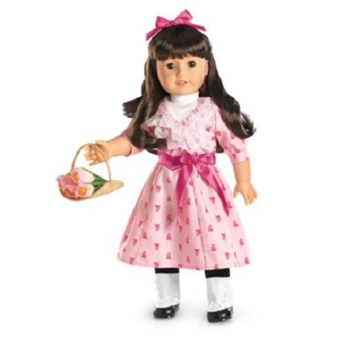 American Girl Samantha FLOWER PICKING SET dress outfit boots pink bow no doll
