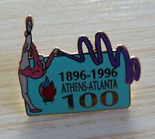 PIN'S JEUX OLYMPQUES ATHENS ATLANTA 1896 1996 100 ANS GYMNASTIQUE EGF