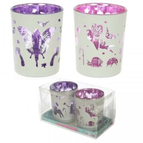 Tea Light Holders Fairy Garden Design élégant Fairy Style Porte-Lot de 2