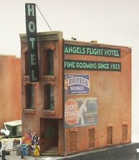 2 Different Downtown Deco HO Scale Flats Almost 5' of Detailed Backdrop LOOK