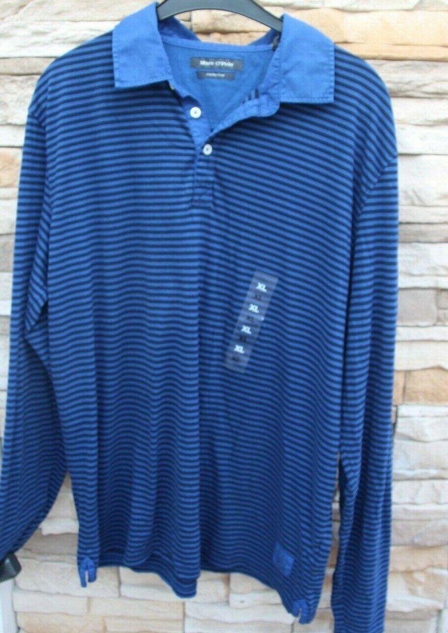 T-Shirt  Hemd - Polohemd -  Marc O`Polo  - Gr XL blau-schwarz Streifen - Neuware  | Verkauf Online-Shop  | Klein und fein  | Innovation