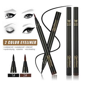 Wasserdichte-Make-up-Eyeliner-Bleistift-Liquid-Eye-Liner-Pen-Schwarz-Braun