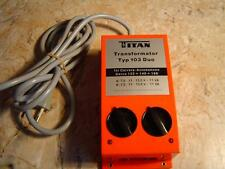 Titan Transformator Typ 103 Duo für Carrera-Autobahnen Servo 132+140+160