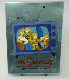 THE-SIMPSONS-THE-COMPLETE-SECOND-SEASON-COLLECTOR-039-S-EDITION-4-DISC-DVD-SET-GUC