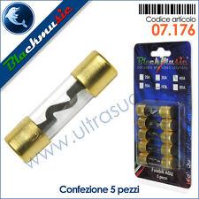 Fusibili AGU in vetro 80 Ampere confezione 5 pezzi