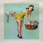 ragazza pin up bucato Stampato Tessuto Panel Fare Un Tappezzeria Cuscino