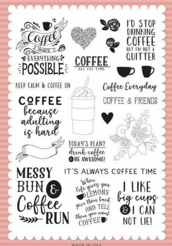 Echo Park Coffee Time Stamp Set