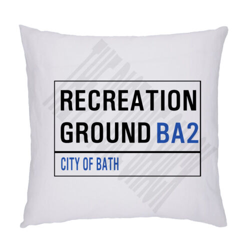 Bath Rugby Rugby Football Ground Street Sign Coussin//Oreiller Inc rembourrage