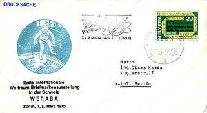 1970 Suisse Space Landing Commémorative Couverture (b) Circulation Sanguine Tonifiante Et Douleurs D'ArrêT