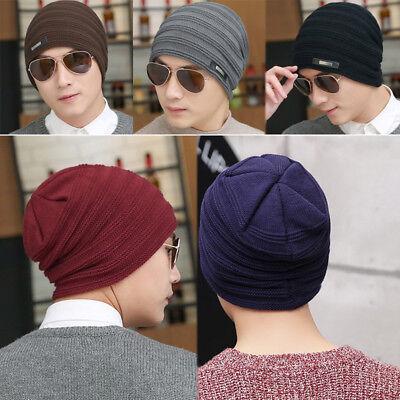 Velvet Beanie Winter Warm Knitted Caps Outdoor Sports Ski Bonnet Stocking Hats