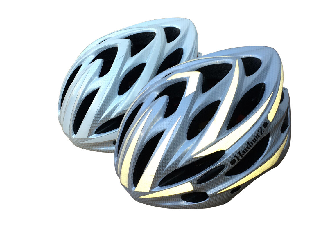 HardnutZ Bike Helmet Road Mountain Bicycle Cycling Hi Vis MTB Carbon Fibre New