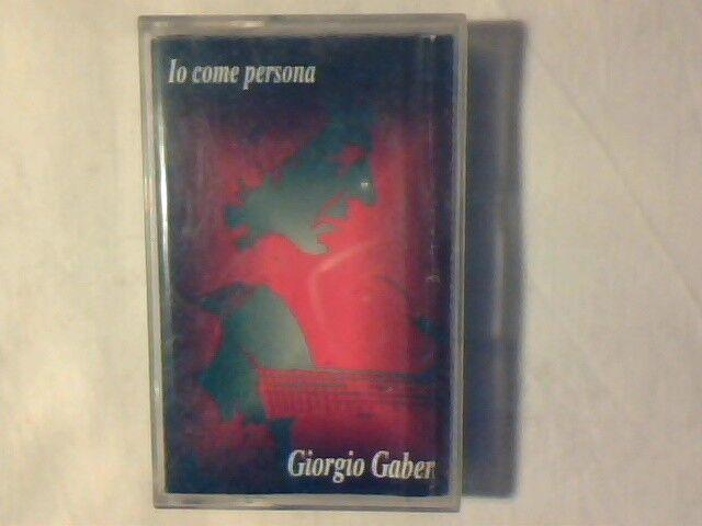 GIORGIO GABER Io come persona mc cassette k7 OMBRETTA COLLI GIAN PIERO ALLOISIO