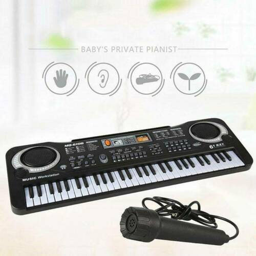 61 Keys Digital Music Electronic Keyboard Electric Piano Organ Kids Set Beginner